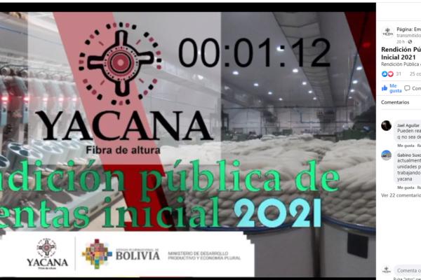 Rendición Pública de Cuentas Inicial 2021